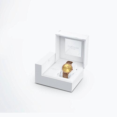 Женские золотые часы (210.01.00.100.03.03.2) - фото №4