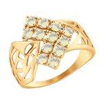 Кольцо из золота с ситаллами