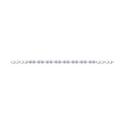 Браслет из серебра с фианитами (94050385) - фото