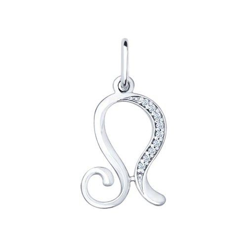 Серебряная подвеска «Знак зодиака Лев» SOKOLOV