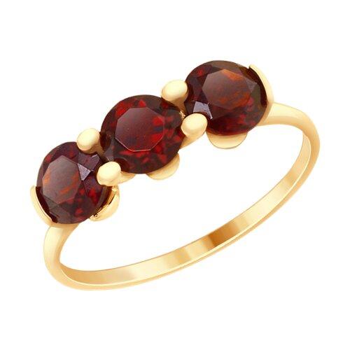 Кольцо из золота с гранатами (37714927) - фото
