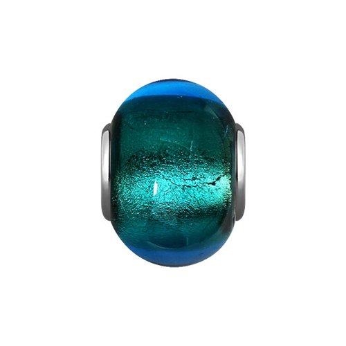 Подвеска-шарм, Синее муранское стекло цена 2017