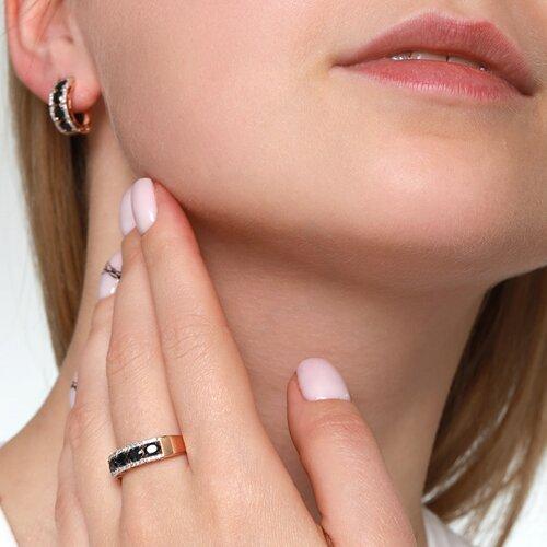 Кольцо из золота с бриллиантами и сапфирами (2011007) - фото №4