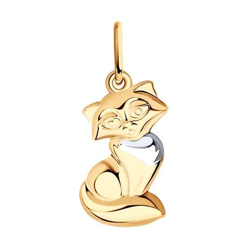 Подвеска «Кошка» из золота (035009) - фото