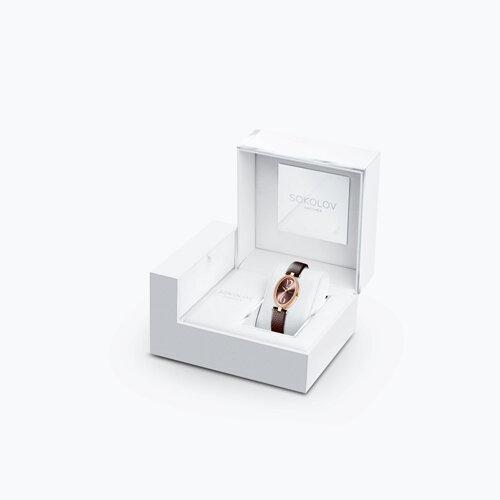Женские золотые часы с бриллиантами (236.01.00.100.07.07.2) - фото №4