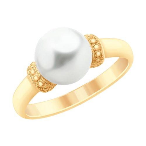Кольцо из золота с жемчугом (791089) - фото