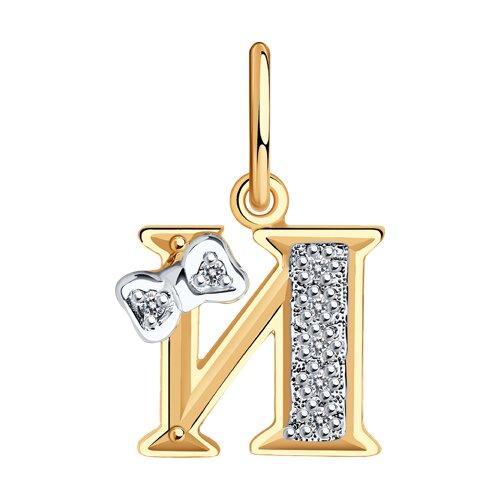 Золотая подвеска-буква «И» SOKOLOV фото