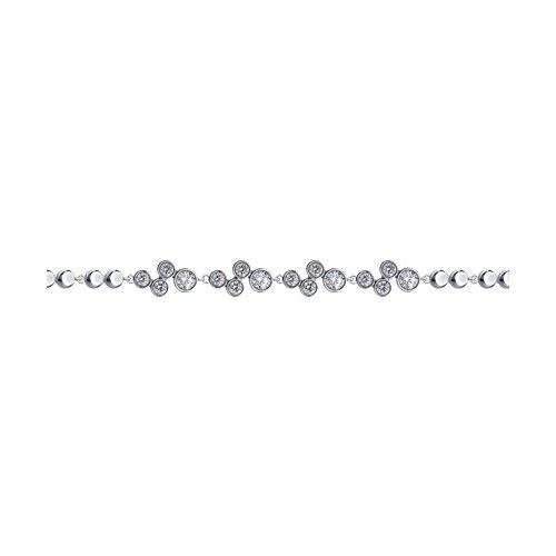 Браслет из серебра с фианитами (94050384) - фото