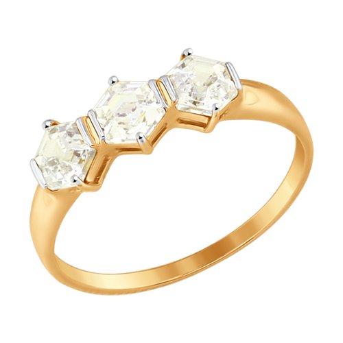 Кольцо из золота со Swarovski Zirconia (81010338) - фото