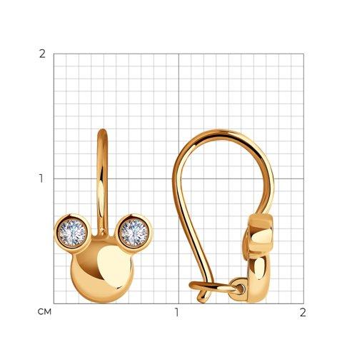 Серьги из золота с фианитами 029149 SOKOLOV фото 2