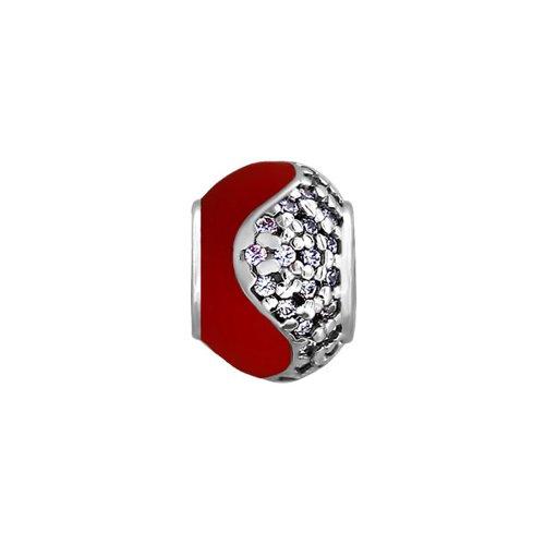 Подвеска-шарм для браслетов украшенная фианитами