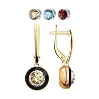 Серьги из золота со сменными вставками Swarovski, коллекция Kaleidoscope