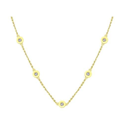 Колье из желтого золота с бриллиантами (1070071-2) - фото