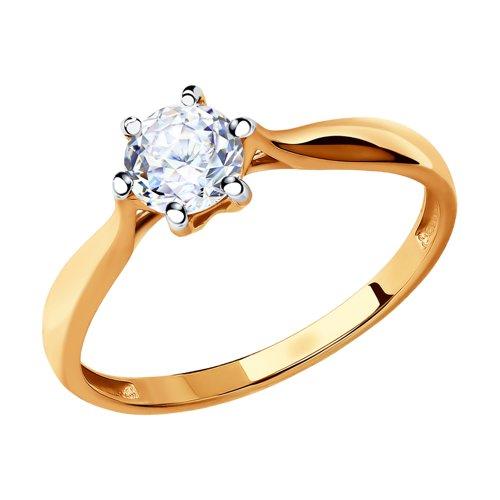Кольцо из золота со Swarovski Zirconia (81010285-4) - фото