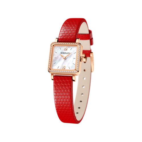 Женские золотые часы (232.01.00.001.05.03.2) - фото