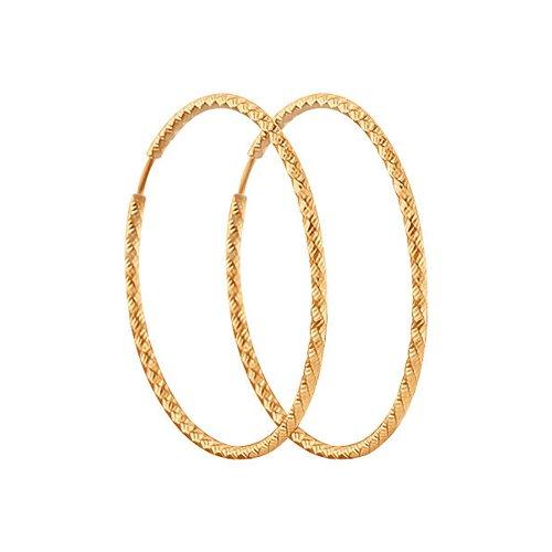 Серьги-кольца SOKOLOV из серебра с алмазной гранью