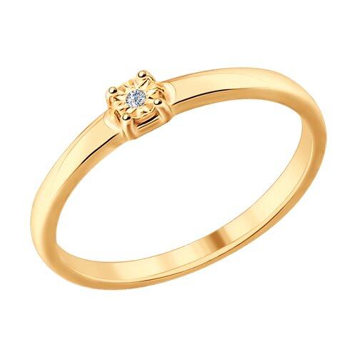 Кольцо из серебра (87010022) - фото