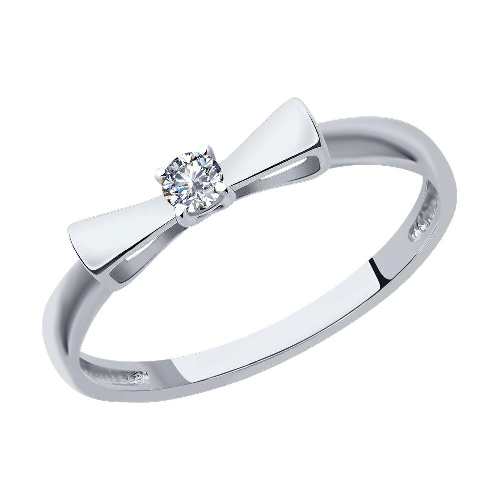 Помолвочное кольцо «Бантик» SOKOLOV из белого золота