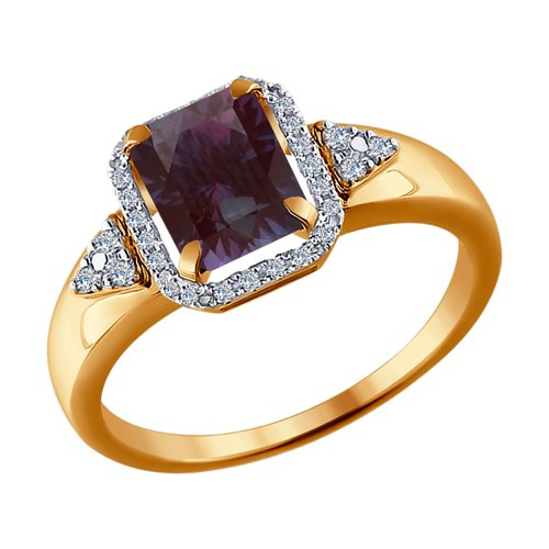 Кольцо из золота (6014102) - фото