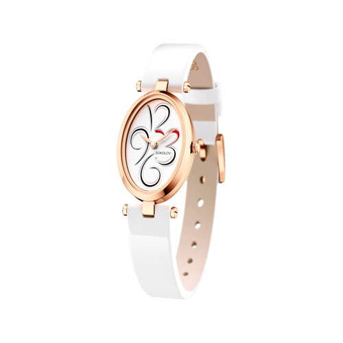 Женские золотые часы (235.01.00.000.03.05.2) - фото