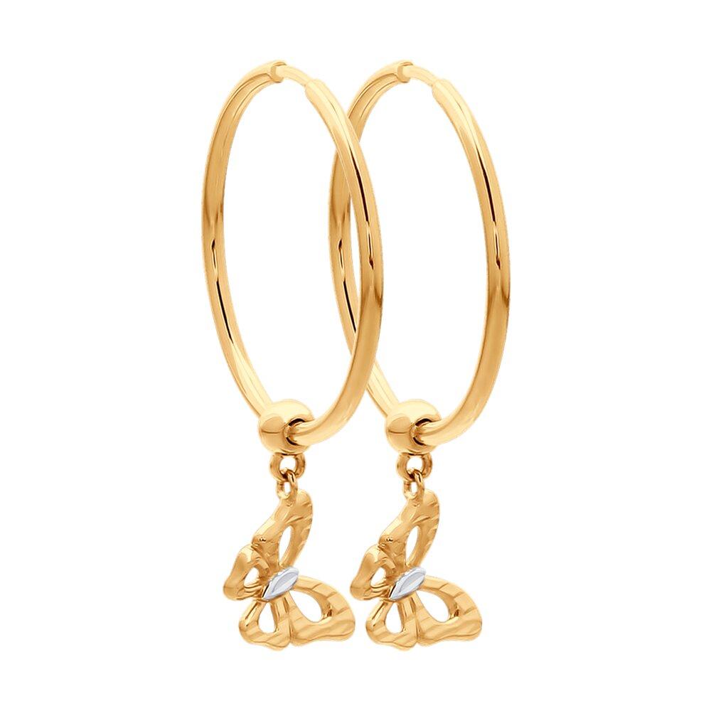 Серьги SOKOLOV из золота с алмазной гранью фото