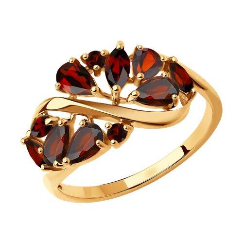 Кольцо из золота с гранатами (37714842) - фото