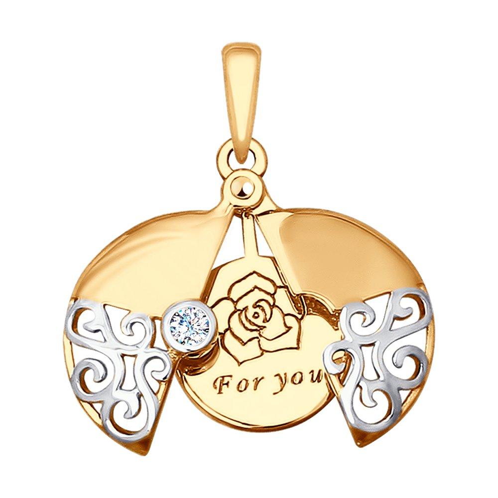 Золотая подвеска «For you» SOKOLOV