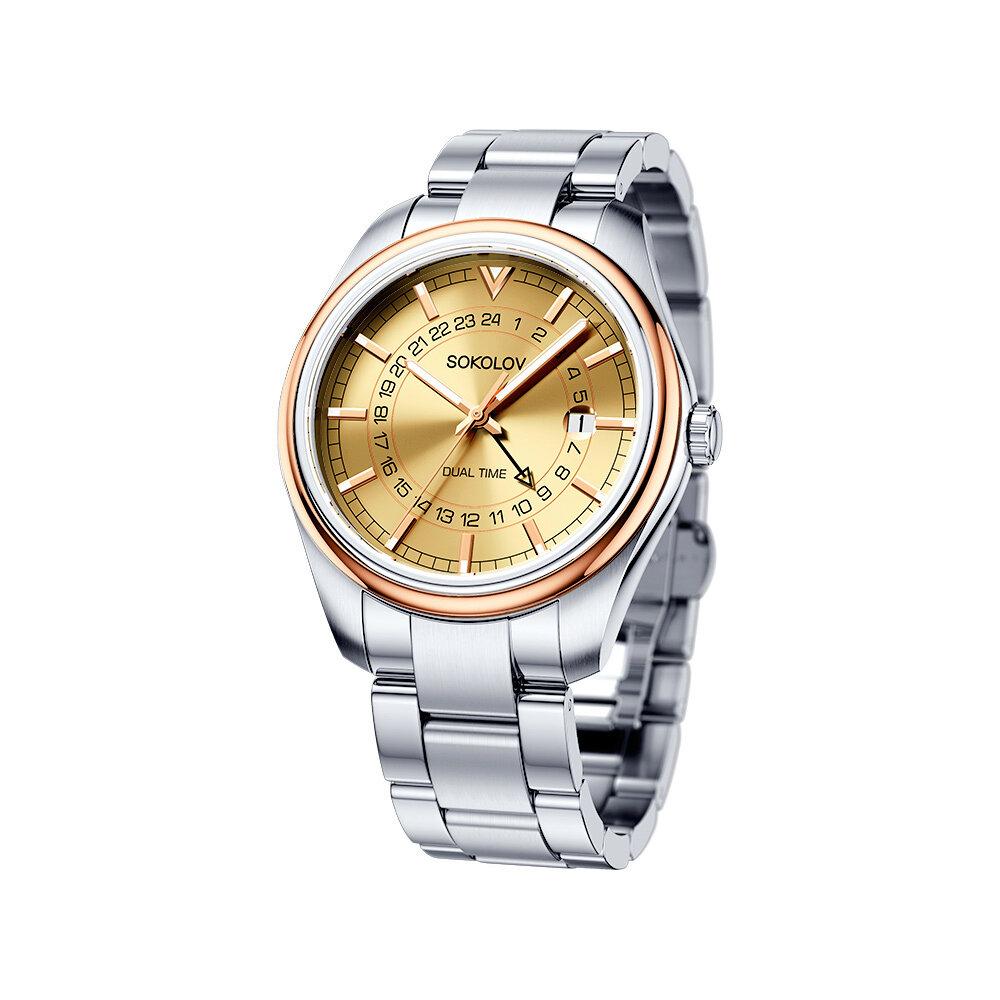 Мужские часы SOKOLOV из золота и стали