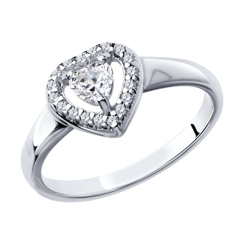 Кольцо из серебра со Swarovski Zirconia 89010068