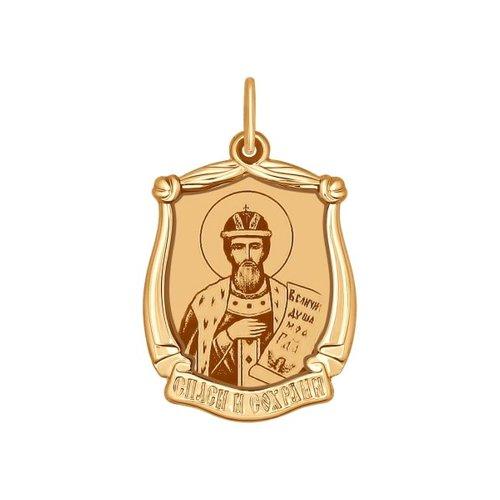 Иконка из золота с лазерной обработкой (103102) - фото