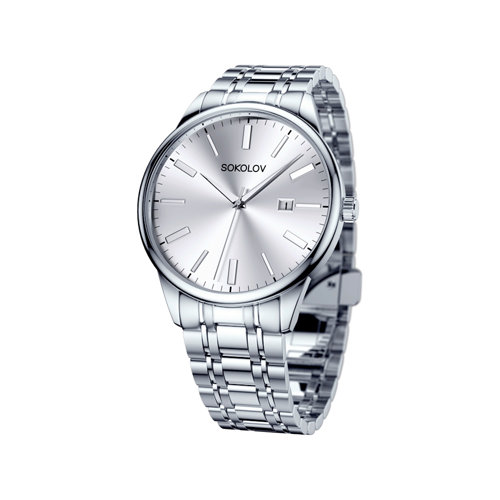 Мужские стальные часы (313.71.00.000.01.01.3) - фото