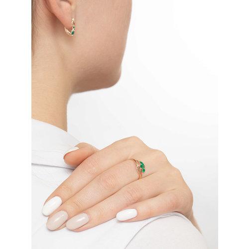 Кольцо из золота с агатами (714617) - фото №4