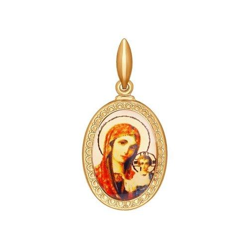 Казанская икона Божьей Матери нательная SOKOLOV яйцо декоративное sima land казанская икона божьей матери на подставке высота 11 см