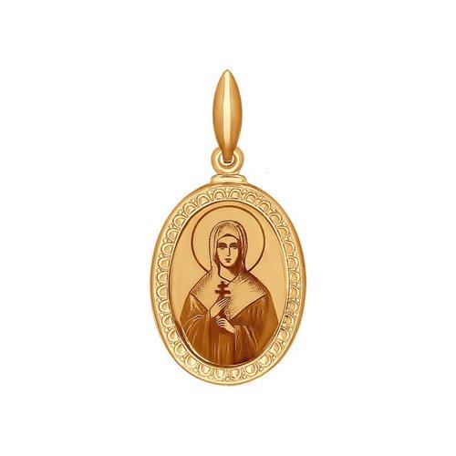 Золотая иконка «Святая мученица Дарья» SOKOLOV святая мученица анастасия романова