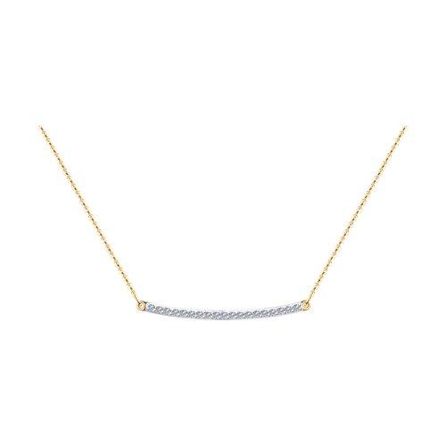 Колье из золота с бриллиантами (1070109) - фото