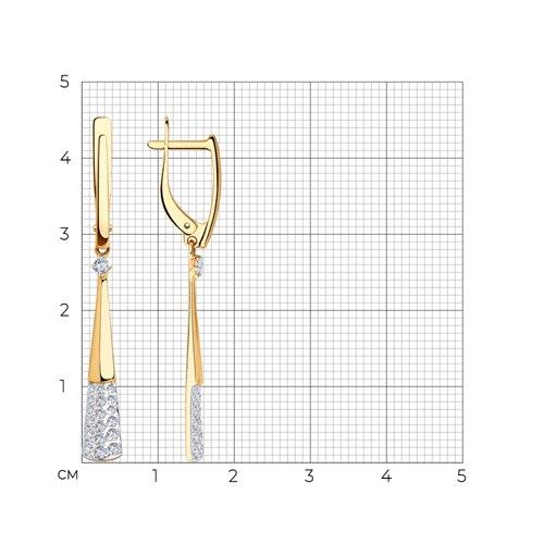 Серьги из золота с фианитами 028235 SOKOLOV фото 2