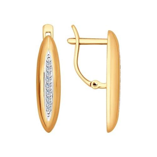 Серьги SOKOLOV из золота с дорожкой бриллиантов недорого