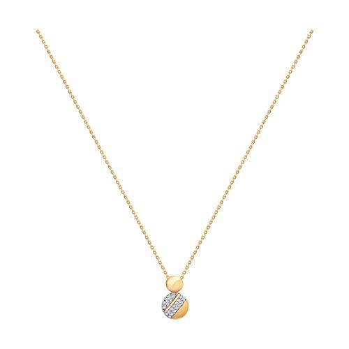 Колье из золота со Swarovski Zirconia (070290) - фото