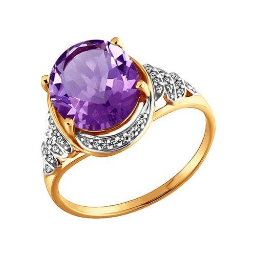 Кольцо золотое с аметистами SOKOLOV золотое кольцо ювелирное изделие 01k684711ul