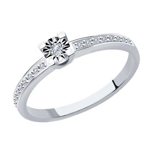 Кольцо из белого золота с бриллиантами 1012023 SOKOLOV фото