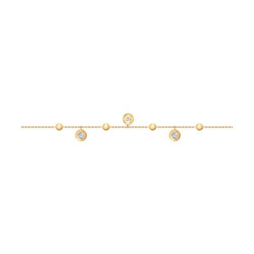 Браслет из золота с фианитами (050999) - фото