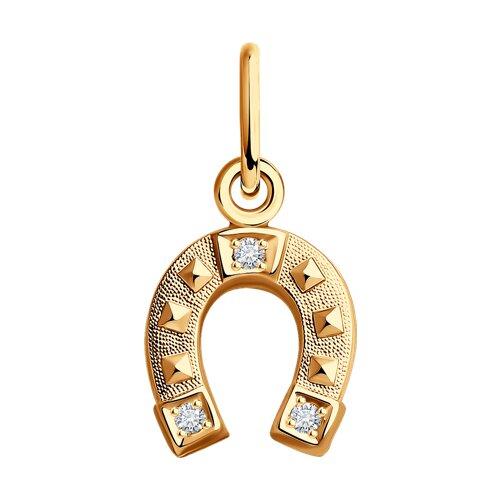 Подвеска «Подкова» из золота