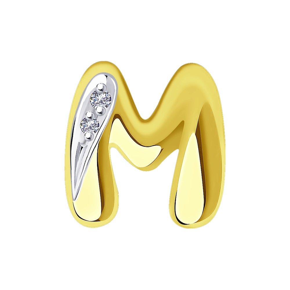 Подвеска SOKOLOV из желтого золота с бриллиантами