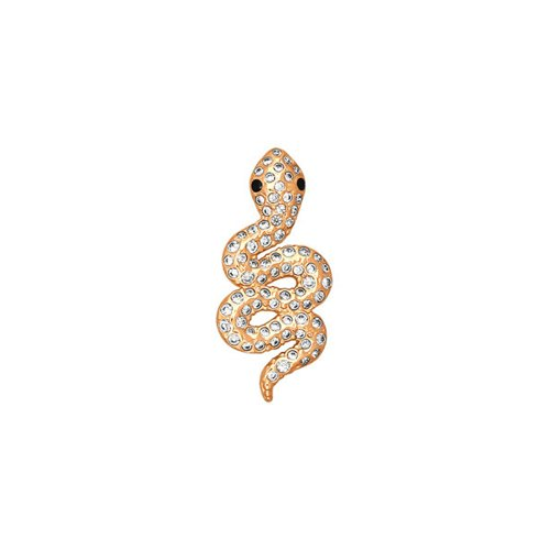 Фото - Подвеска змея SOKOLOV из золота c черными фианитами подвеска змея из золота c черными фианитами