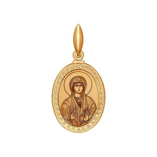 Иконка SOKOLOV из золота с лазерной обработкой нательная иконка с лазерной обработкой sokolov