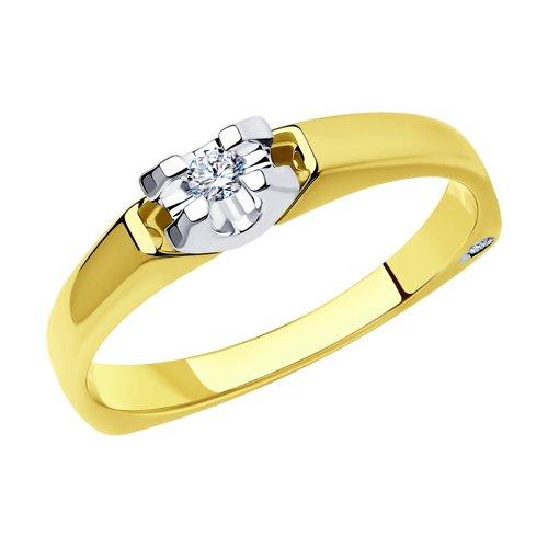 Кольцо из комбинированного золота с бриллиантами 1011661-2 SOKOLOV фото