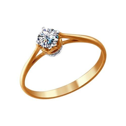 Золотое помолвочное кольцо с бриллиантом SOKOLOV золотое кольцо с бриллиантом и чёрным жемчугом sokolov