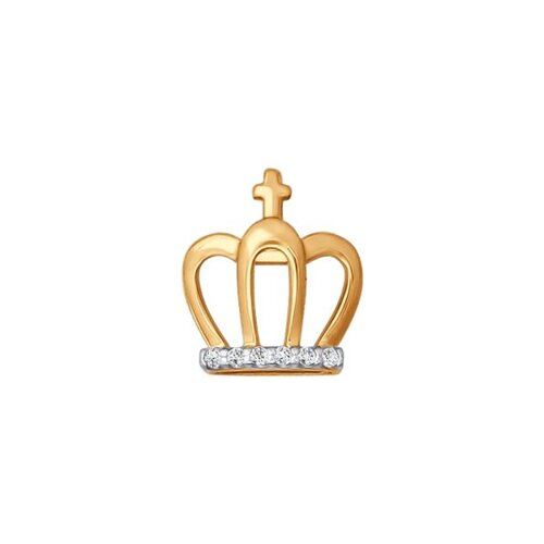 Подвеска-шарм из золота «Корона»