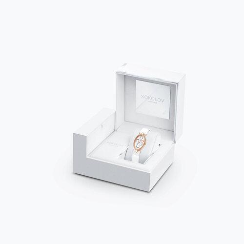 Женские золотые часы (236.01.00.100.03.05.2) - фото №4