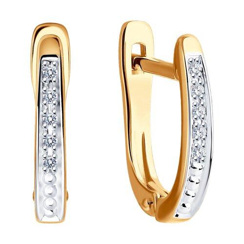Серьги из золота с бриллиантами (1021316) - фото №2